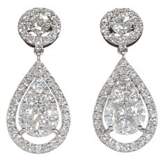 Elegant Illusion Diamond Dangle Earrings