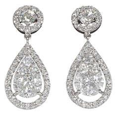 Elegant Illusion Diamond Dangle Earrings