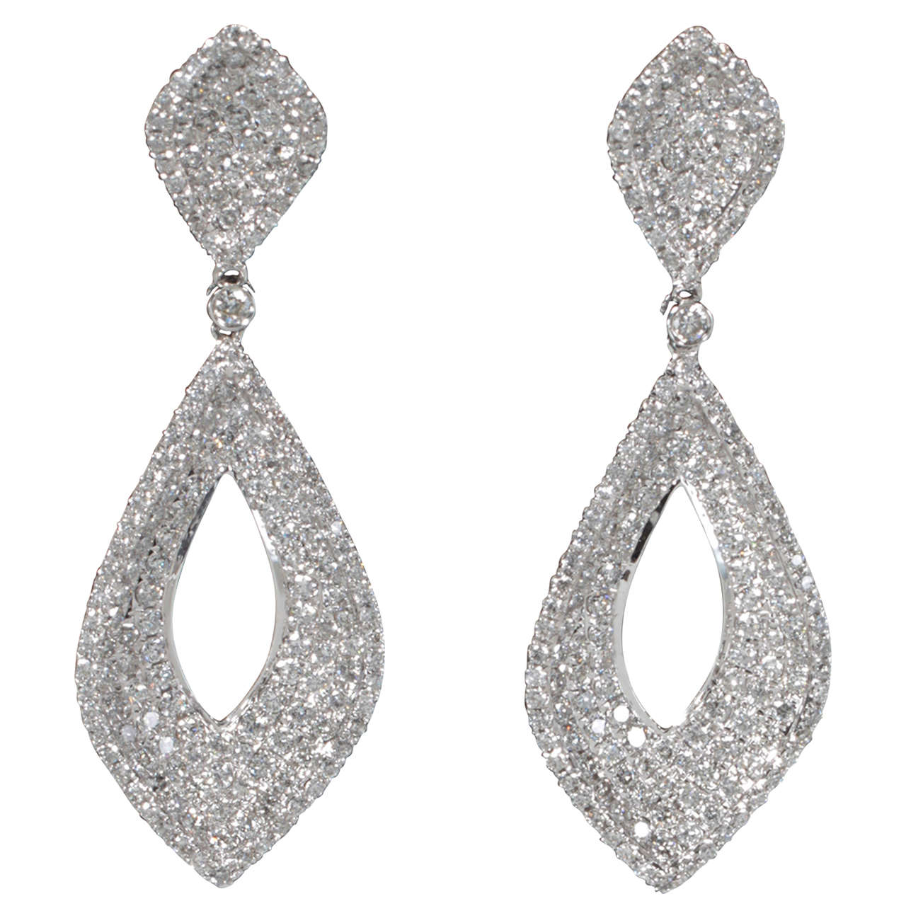 earrings sale pave drop earrings for sale at 1stdibs 8149