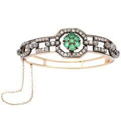 Emerald & Diamond Bangle Bracelet