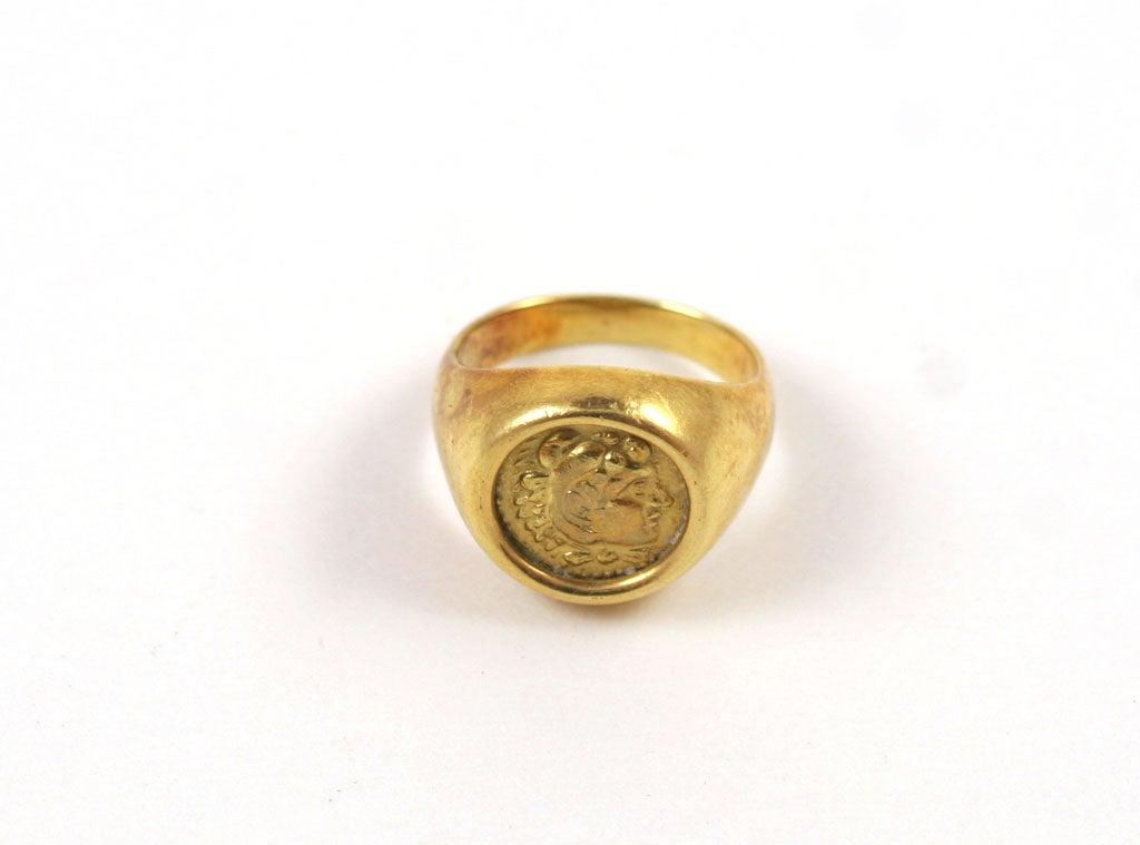 Women's 18K Gold Greek Signet Ring