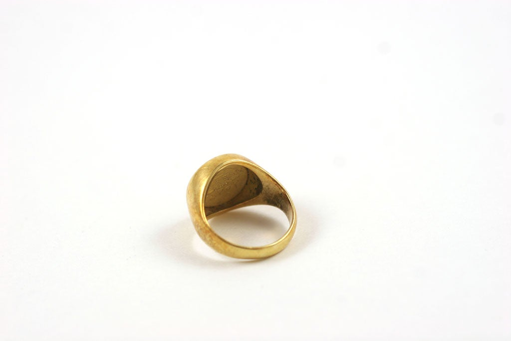 18K Gold Greek Signet Ring 2