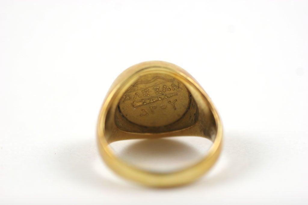 18K Gold Greek Signet Ring 3