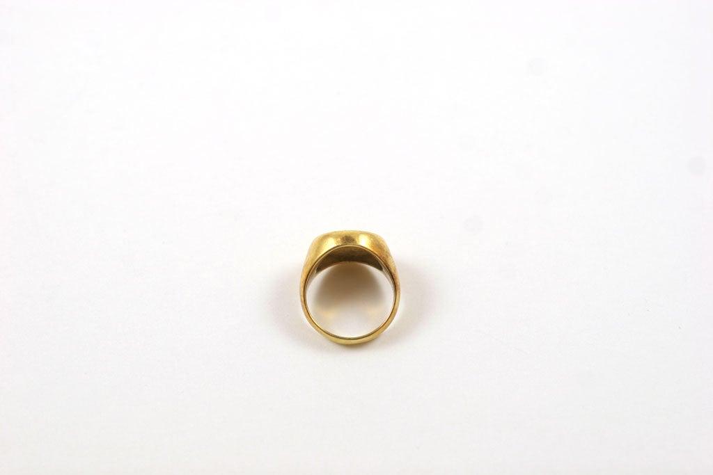 18K Gold Greek Signet Ring 4