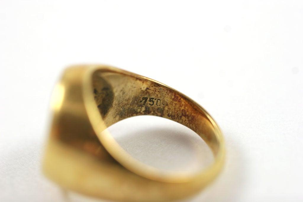 18K Gold Greek Signet Ring 7