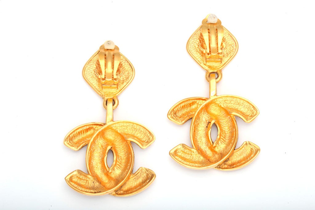 Chanel Quilted CC Dangling Earrings 5