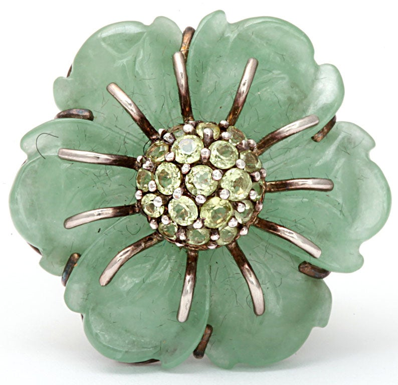 Sweet as Summer: Jade and Peridot Flower Ring 3