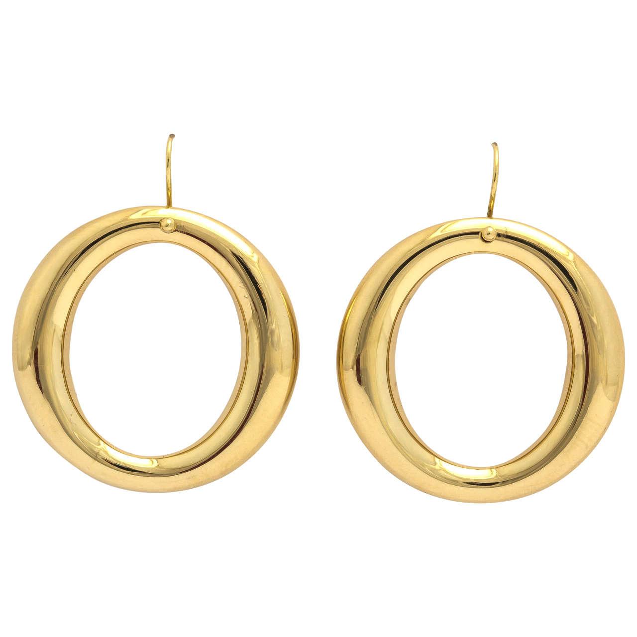 tiffany and co sterling silver elsa peretti teardrop hoop earrings