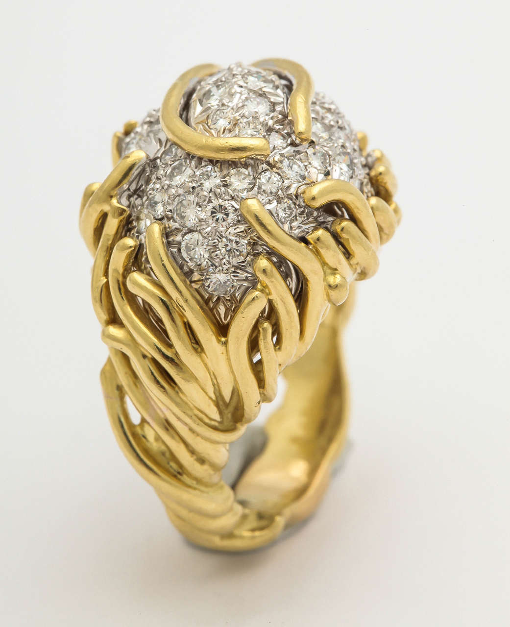 1960s heavy gold dome cocktail ring at 1stdibs