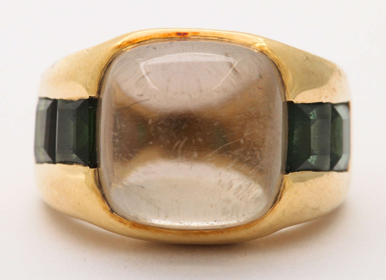 Citrine & Green Tourmaline Ring 2