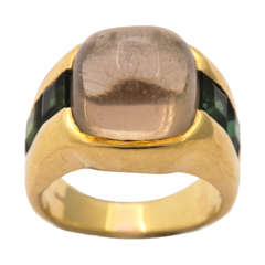 Citrine & Green Tourmaline Ring