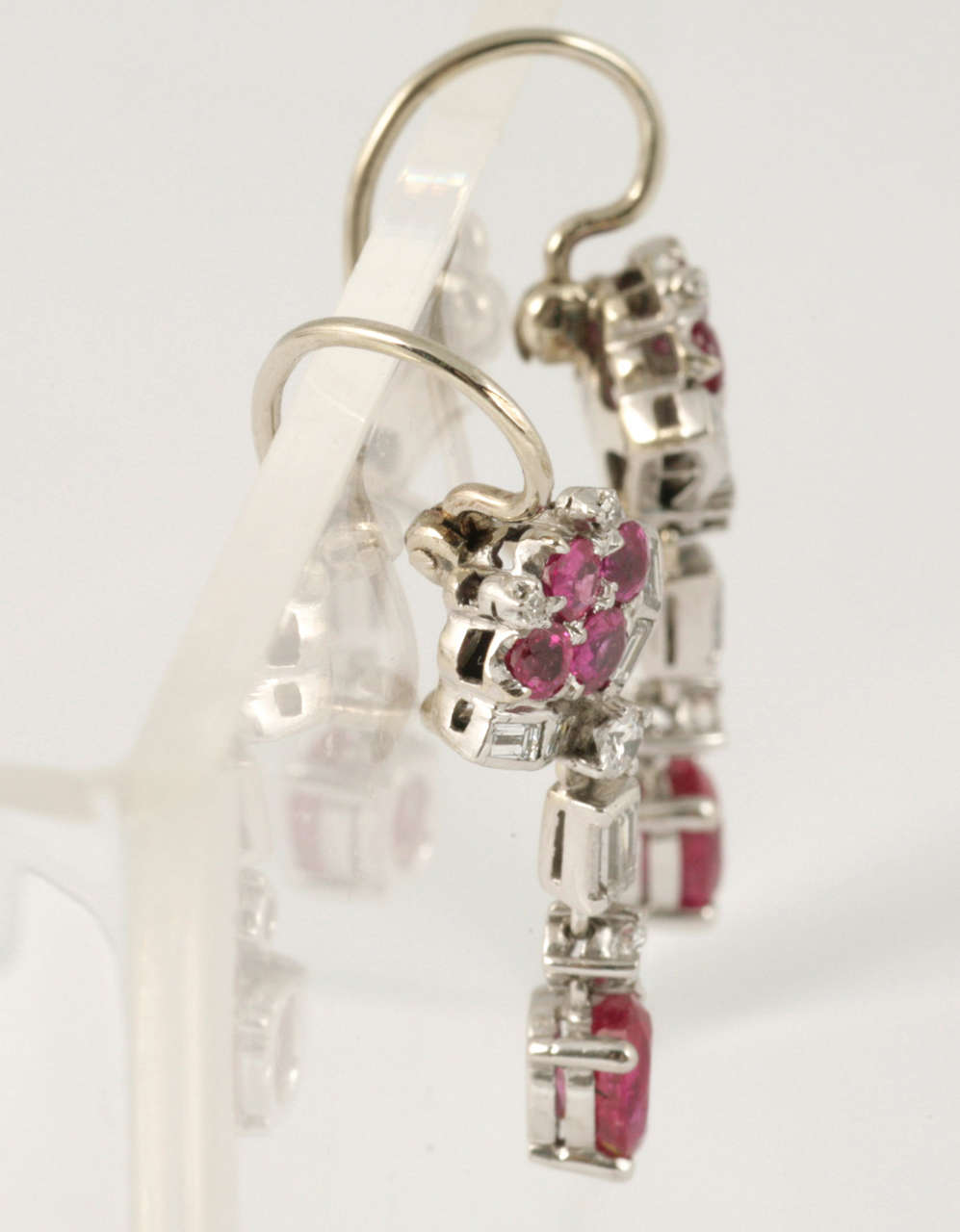 Ruby and Diamond Drop Earrings 2
