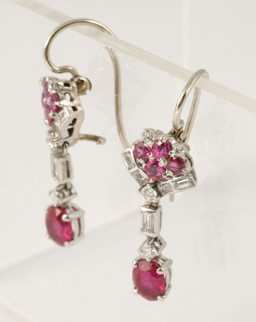 Ruby and Diamond Drop Earrings 3
