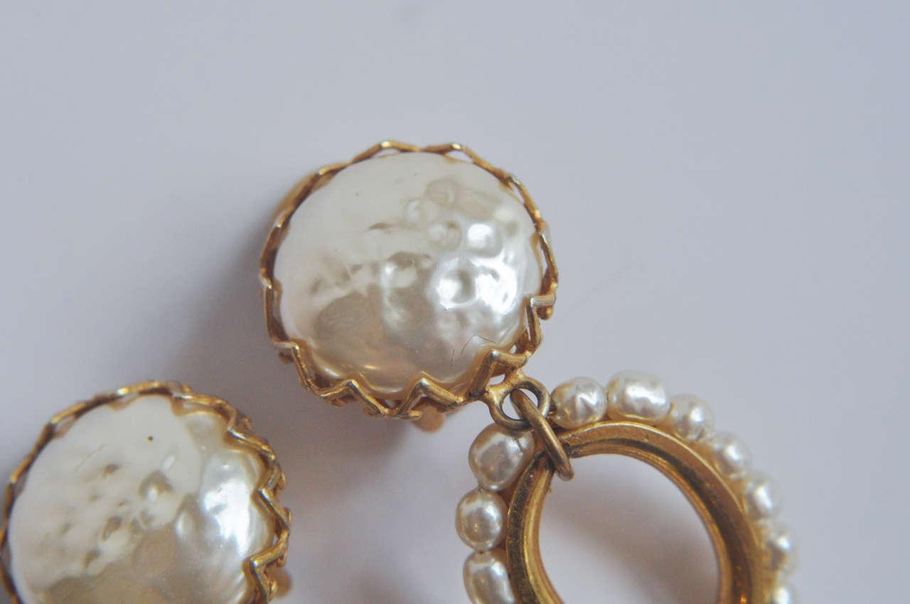 Miriam Haskell Pearl Drop Earrings 3