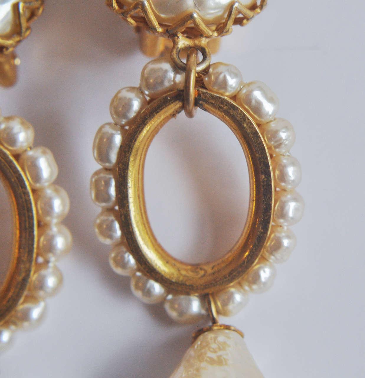 Miriam Haskell Pearl Drop Earrings 4