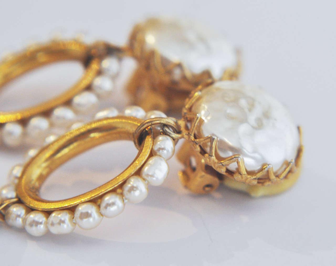 Miriam Haskell Pearl Drop Earrings 5