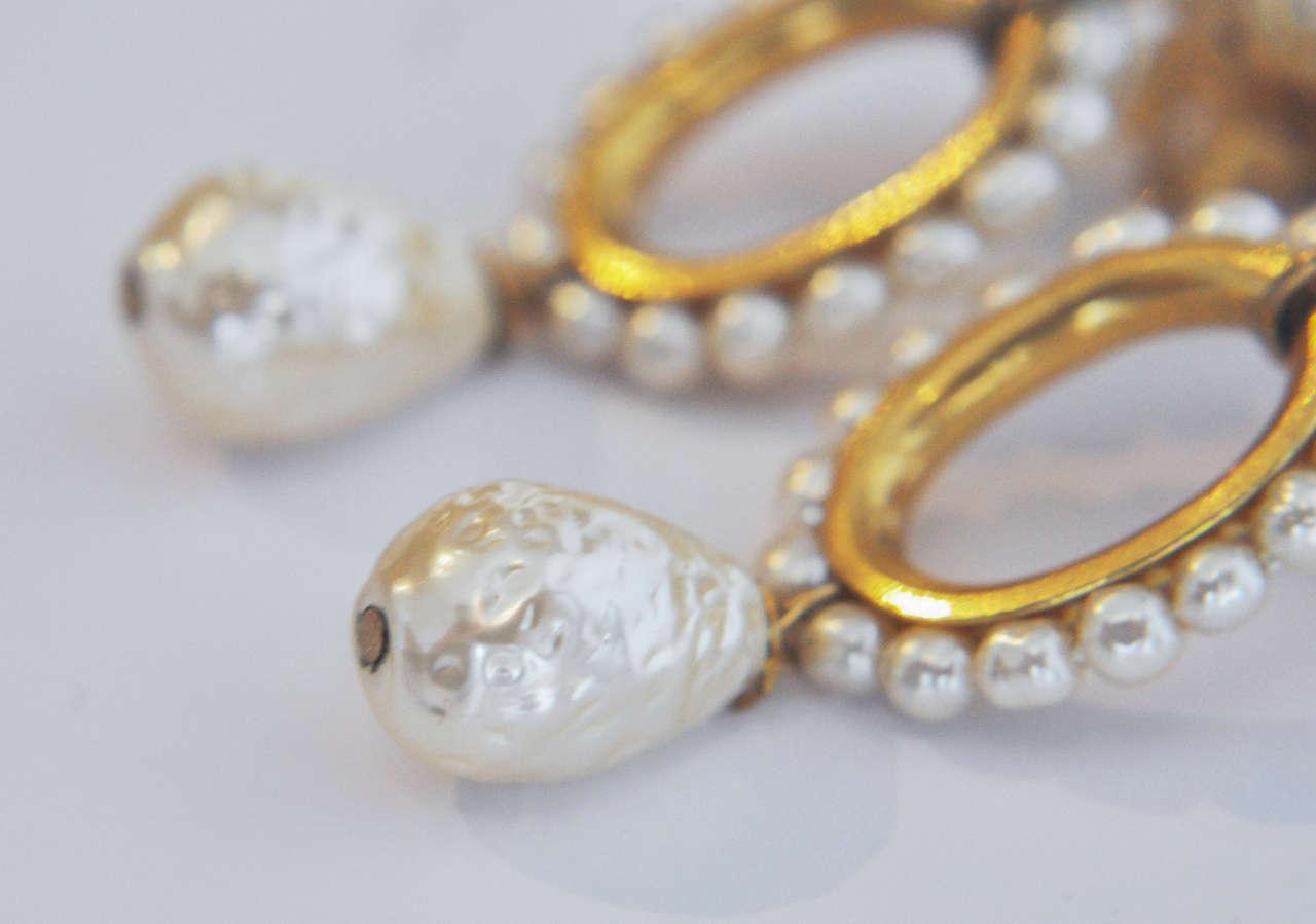 Miriam Haskell Pearl Drop Earrings 6