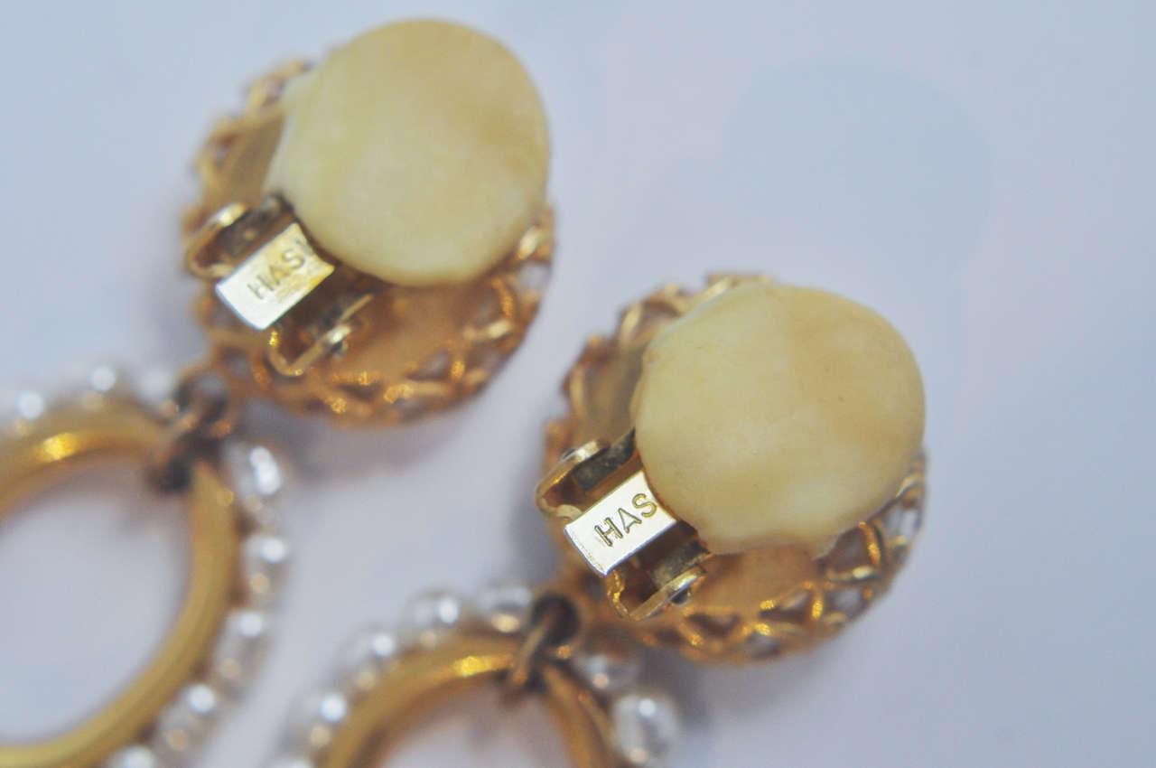 Miriam Haskell Pearl Drop Earrings 7