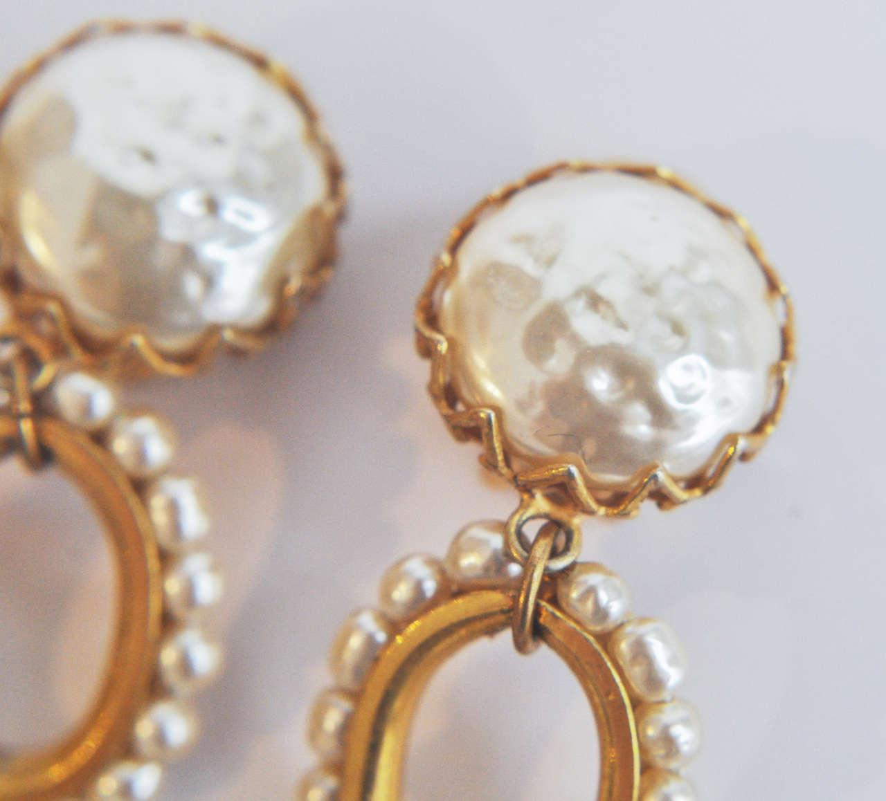 Miriam Haskell Pearl Drop Earrings 8