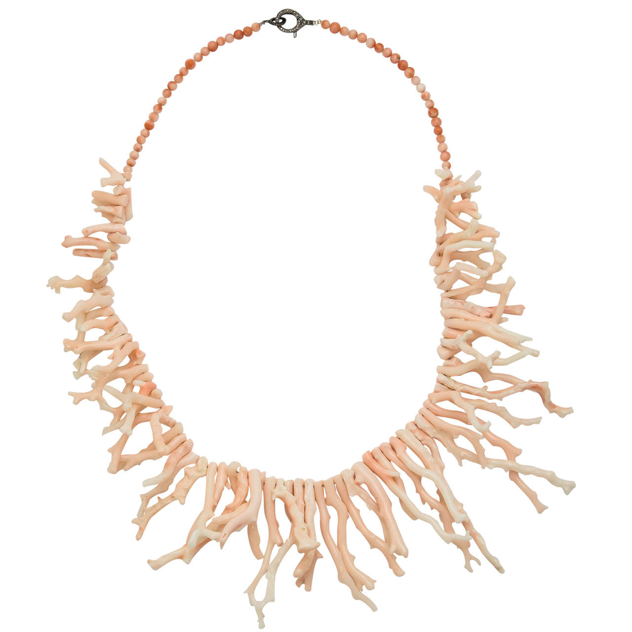 Elegant Angel Skin Branch Coral Necklace