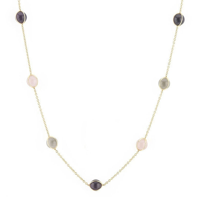 18kt Multi Color Ball Necklace
