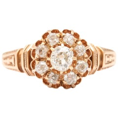 Antique 14 kt  American Diamond Ring c.1870