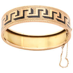 Antique Victorian Greek Key Bangle