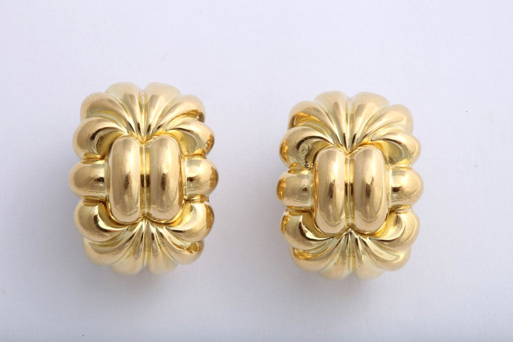Highly Stylized 80's Clip Earring Signed Neiman Marcus at ...