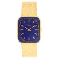 Patek Philippe Yellow Gold Rectangular Wristwatch Ref 3582 circa 1970s