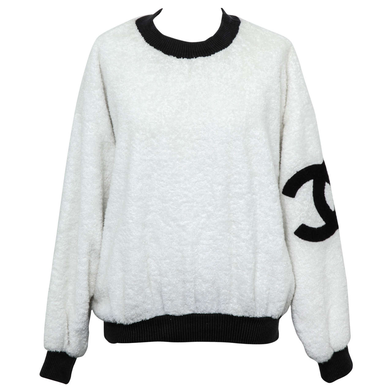 Vintage Chanel Sweat Shirt Sweater with Iconic CC