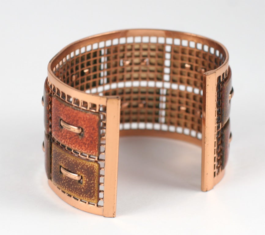 Matisse Renoir Copper Cuff Bracelet In Excellent Condition For Sale In Stamford, CT