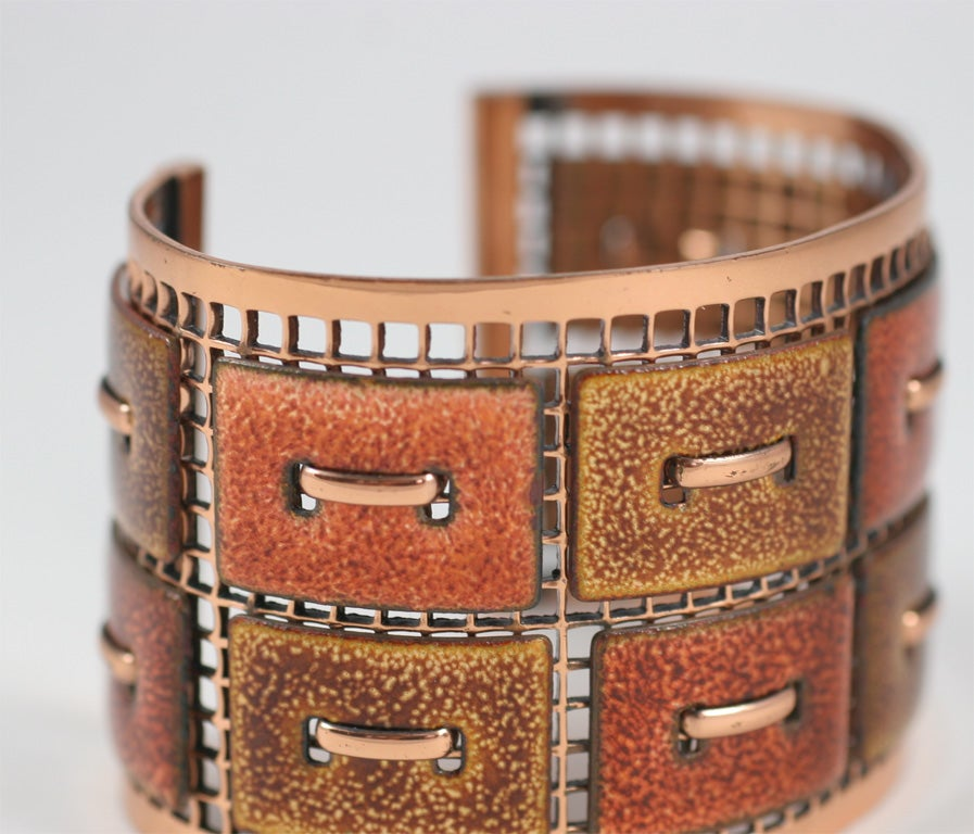 Matisse Renoir Copper Cuff Bracelet For Sale 2