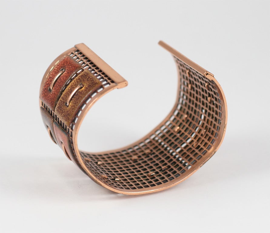Matisse Renoir Copper Cuff Bracelet For Sale 3