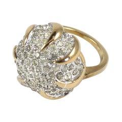 Panetta Sterling Vermeil Rhinestone Ring