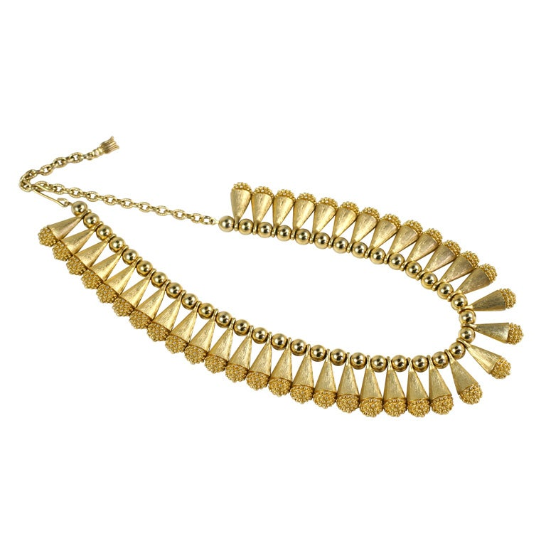 1960s Egyptian Style Collar Necklace