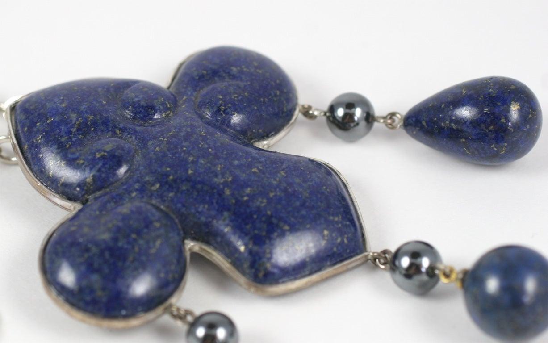 Women's Les Bernard Lapis Lazuli Pendant Necklace For Sale