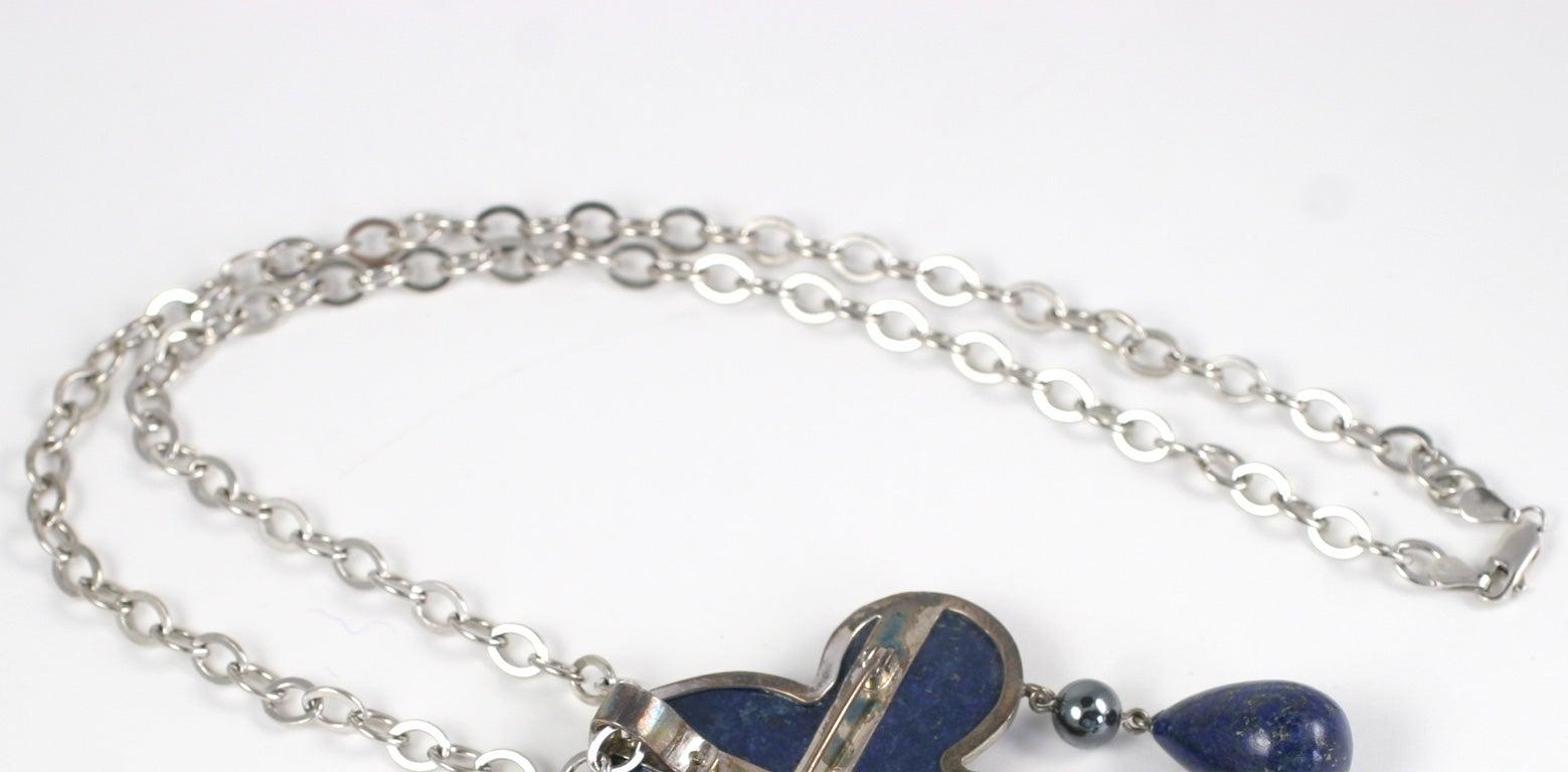 Les Bernard Lapis Lazuli Pendant Necklace For Sale 1