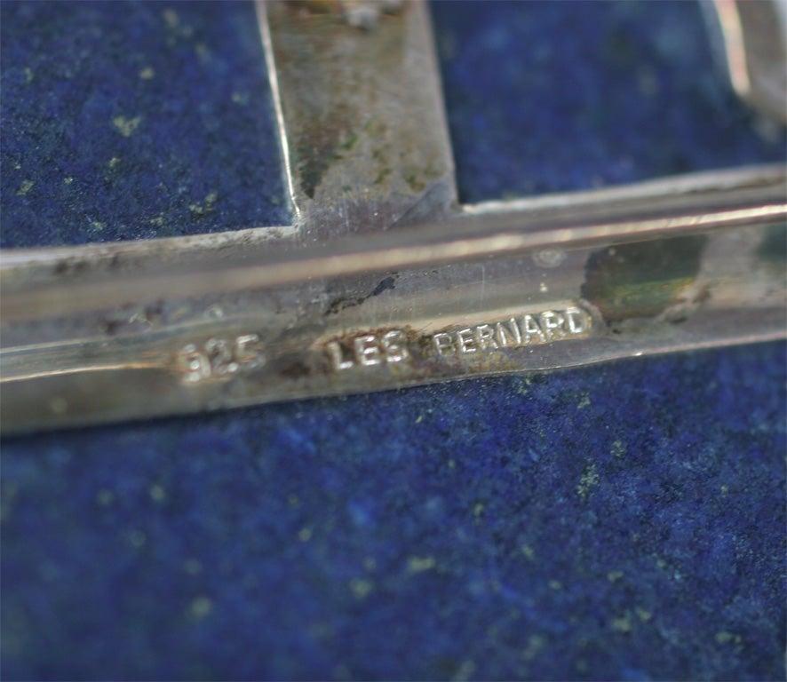 Les Bernard Lapis Lazuli Pendant Necklace For Sale 3