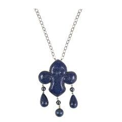 Les Bernard Lapis Lazuli Pendant Necklace