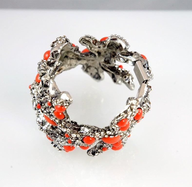 Valentino Coral Runway Cuff For Sale 2