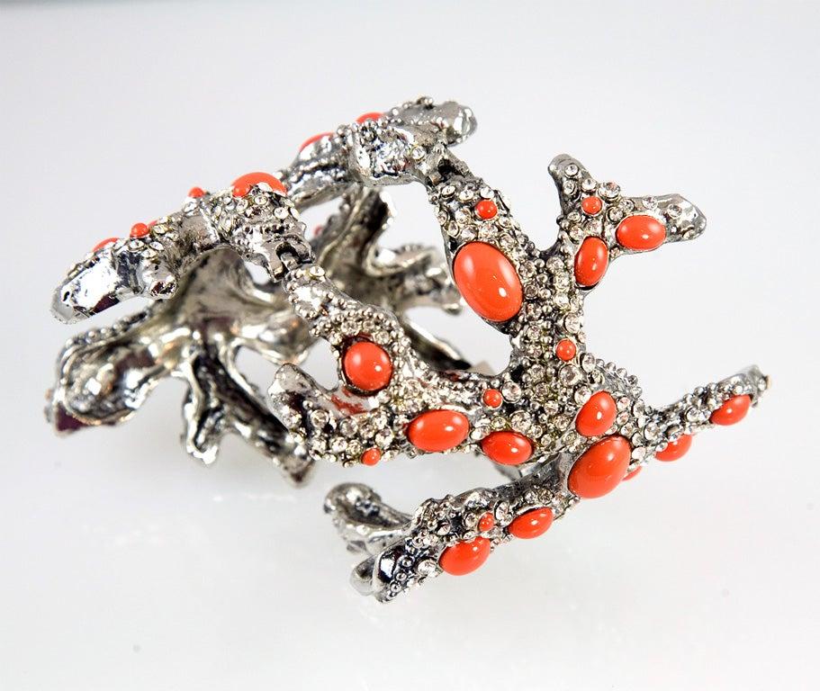 Valentino Coral Runway Cuff For Sale 3