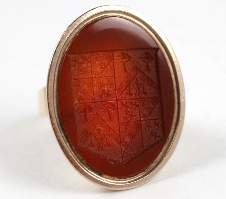 antique carnelian intaglio merchant ring at 1stdibs