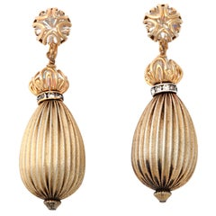 Exotic Goldtone Drop Earrings