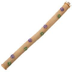 Enameled 60's Bracelet