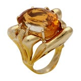 18Kt Yelloww Gold  &  Citrine Architectonic Ring