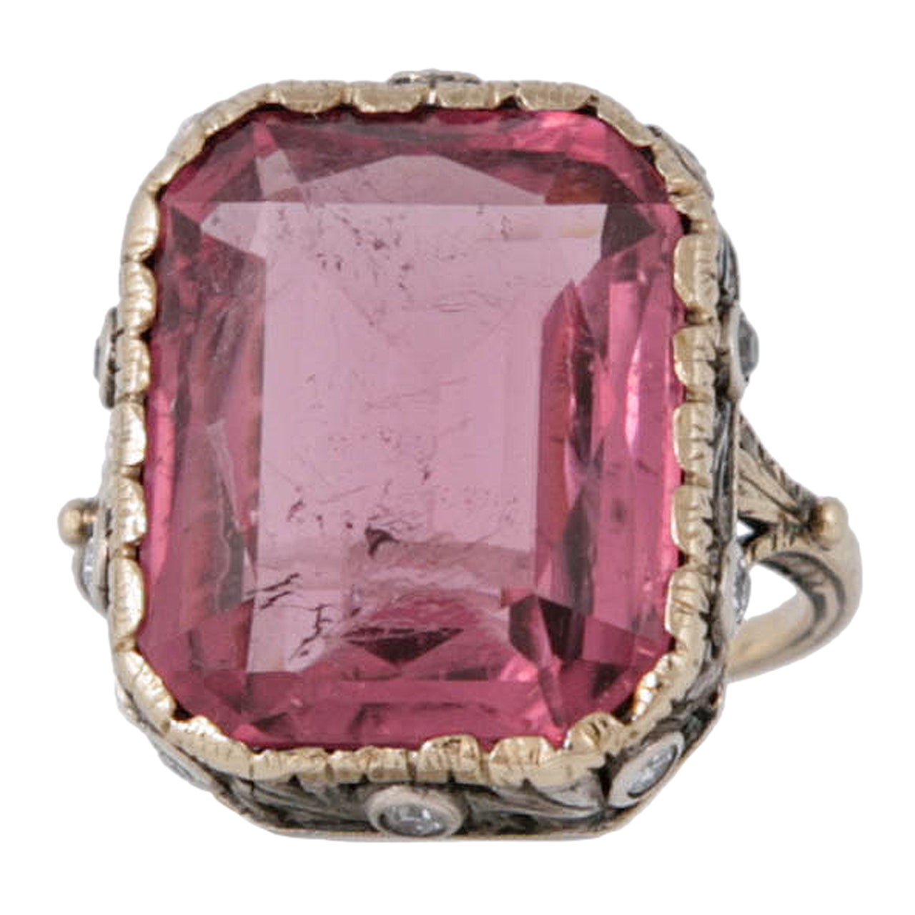 Pink Tourmaline Ring At 1stdibs