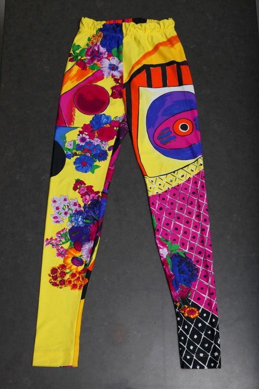 GIANNI VERSACE COUTURE PRINT LEGGINGS image 2