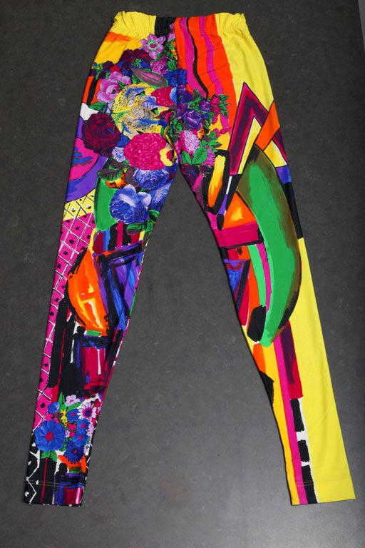 GIANNI VERSACE COUTURE PRINT LEGGINGS image 3