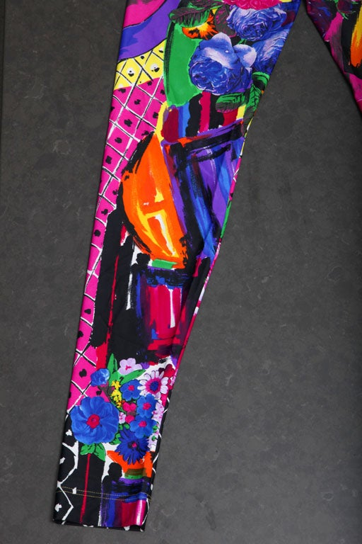 GIANNI VERSACE COUTURE PRINT LEGGINGS image 8