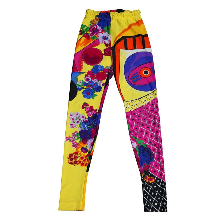 GIANNI VERSACE COUTURE PRINT LEGGINGS